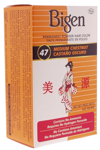 Bigen Permanent Powder Hair Color #47 (Medium Chestnut)
