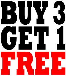 Buy 3, Get 1 Free Winter Specials (January 1st - March 31st)