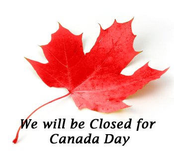 Closed for Canada Day July 1st