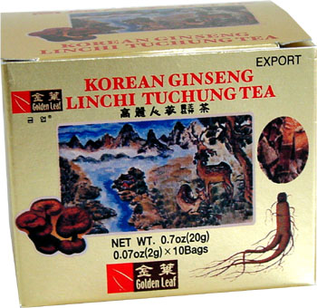 Korean Ginseng Lingzhi Tuchung Tea (100 packages)
